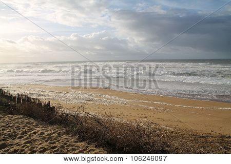 A beach in france