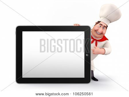 Young Chef With Tab