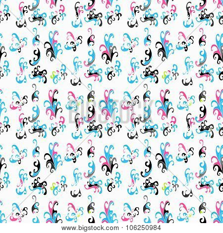 Abstract Flower Pattern vector royalty free stock illustration