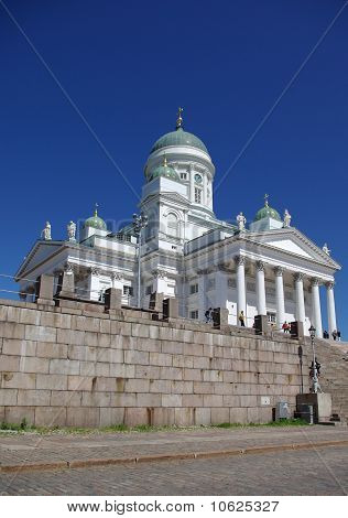 Cathedral at Senate square in Helsinki capital of Finland poster