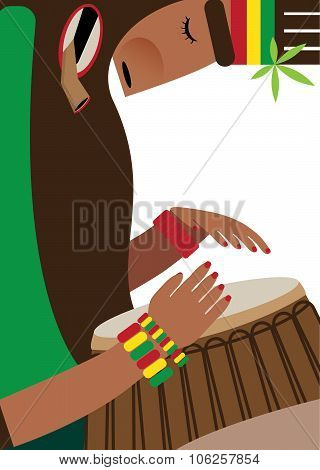 Rasta On White Background