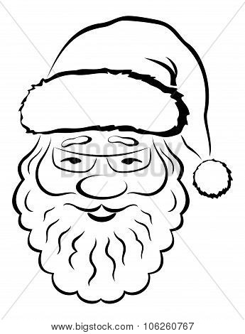 Santa Claus Face, Pictogram