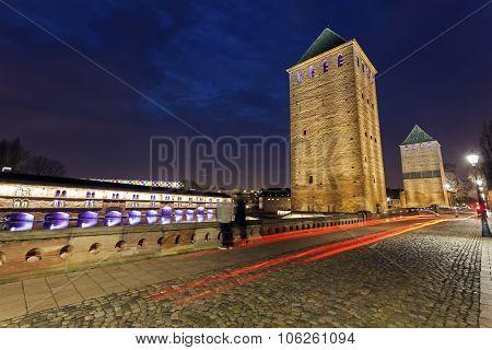 Ponts Couverts in Petite-France. Strasbourg Alsace France poster
