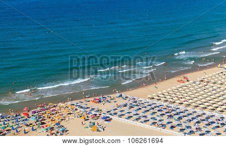 Wide Public Beach Of Gaeta, Italy