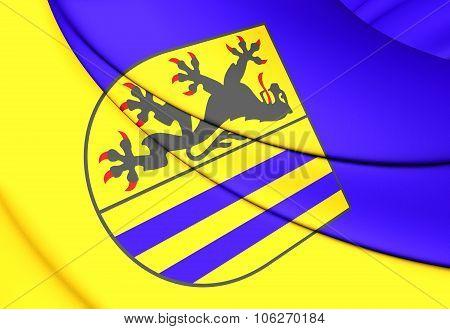 Flag Of Leipzig (saxony), Germany.