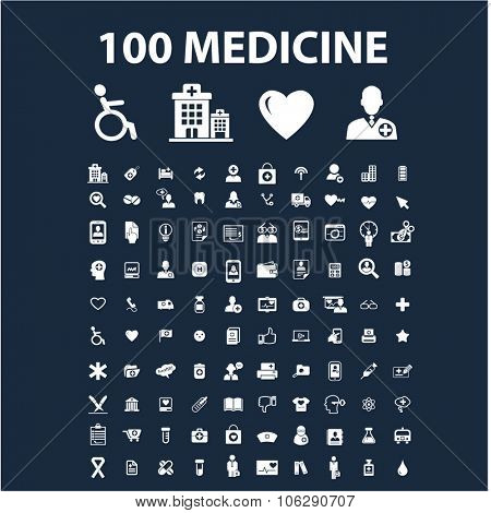 medicine, health care icons, illustration vector set for web, infographics