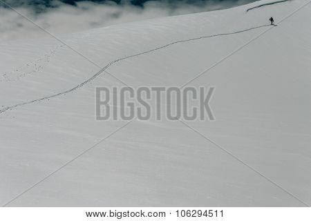 Skier On The Ridge