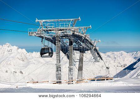 Schwarze Schneid Gondola At Soelden