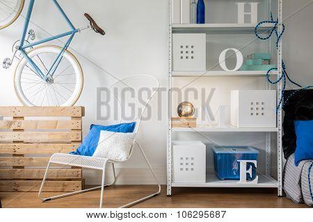 Metal Furniture In Room