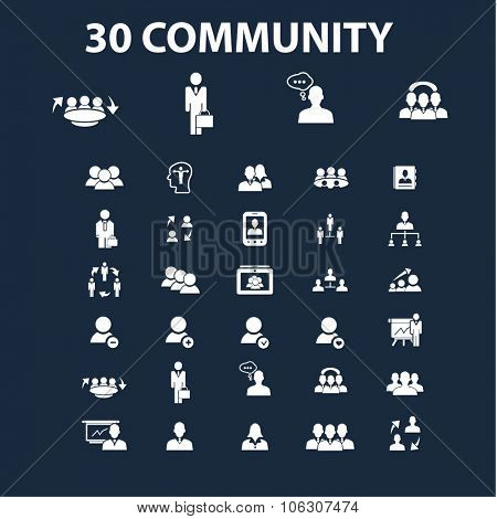 social community icons set vector for infographics