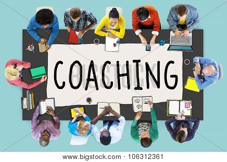 Coaching Training Mentor Teaching Coach Concept poster