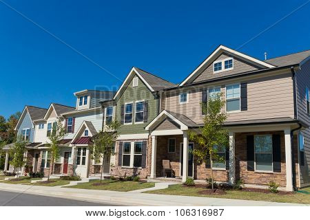 Row of new town homes
