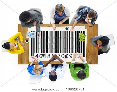 QR Codes Bar Codes Product Systems Shopping Buying Concept