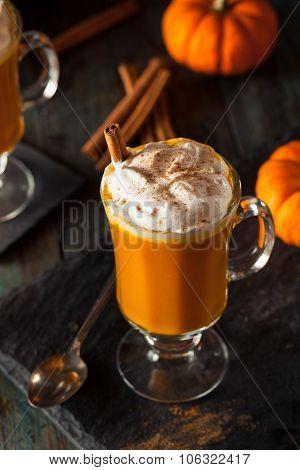 Homemade Thanksgiving Boozy Pumpkin Cocktail