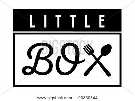 Little Box Logo With Fork And Spoon
