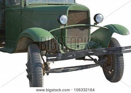 "Soviet truck ""UralZIS-5"" on a white background poster"