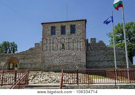 Inside entrance of the fortress in prevails Mali town or Stari Mali grad