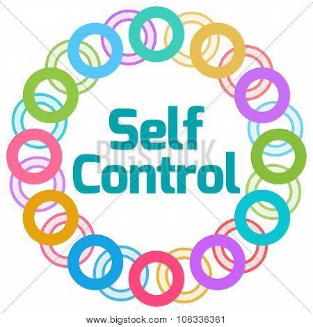 Self Control  Colorful Rings Circular