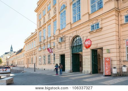 Main Building Of The Museum Quarter In Vienna City