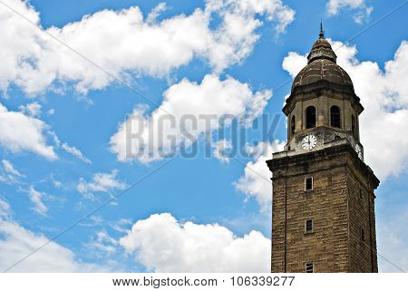 Old Bell Tower or Belfry on a Blue Sky