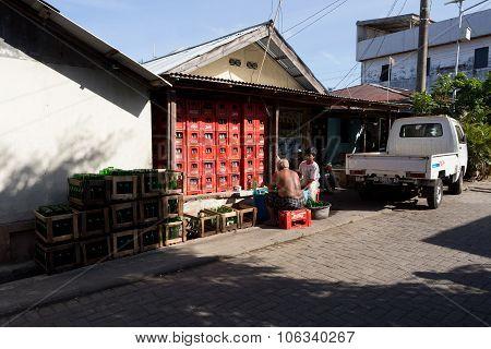 Indonesian Men In Manado Shantytown