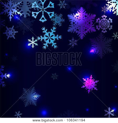 Winter Background With Snowflakes. Stock Vector Illustration