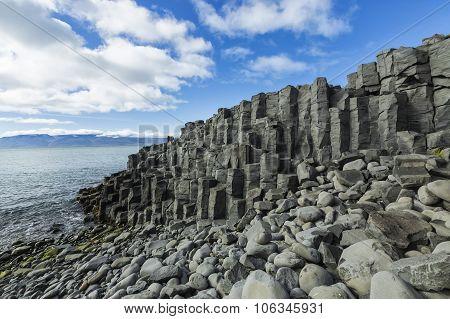 Rocks Formation Reynisdrangar Named Orhan Pipe