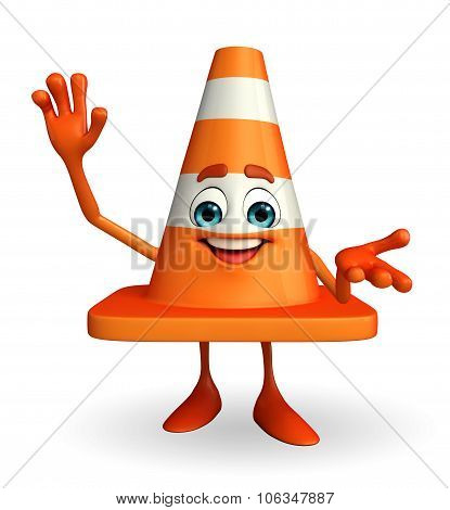 Construction Cone Character