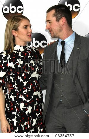 LOS ANGELES - JAN 14:  Lily Rabe, Barry Sloane at the ABC TCA Winter 2015 at a The Langham Huntington Hotel on January 14, 2015 in Pasadena, CA