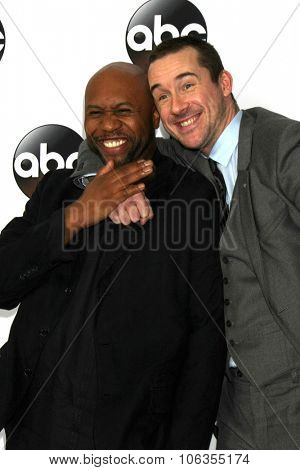 LOS ANGELES - JAN 14:  Derek Webster, Barry Sloane at the ABC TCA Winter 2015 at a The Langham Huntington Hotel on January 14, 2015 in Pasadena, CA