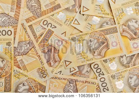 Money - Polish currency 200 PLN