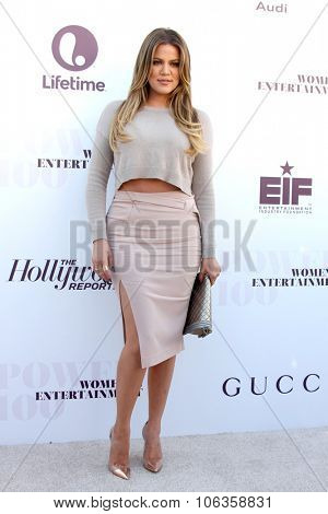LOS ANGELES - DEC 10:  Khloe Kardashian at the 23rd Power 100 Women in Entertainment Breakfast at the MILK Studio on December 10, 2014 in Los Angeles, CA