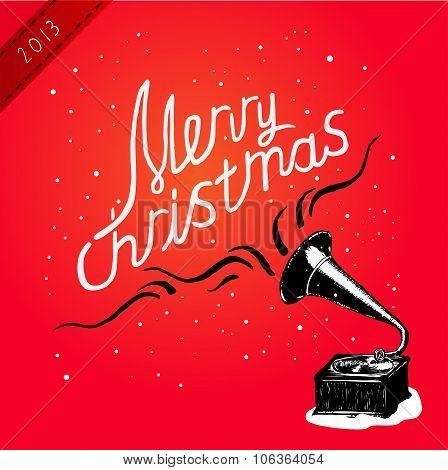 Vector illustration. Christmas Greeting Card.