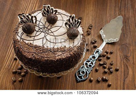 Chocolate Cake And Vintage Spatula