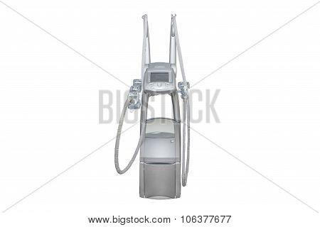 apparatus for liposuction isolated on white background poster