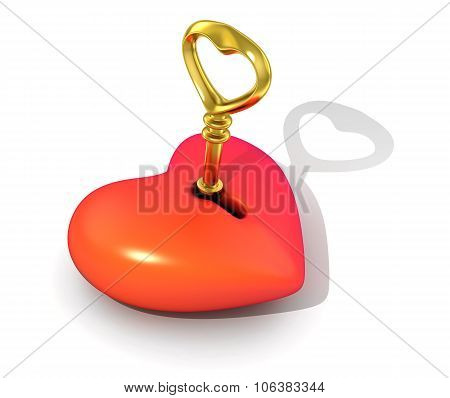Abstract Heart And Key