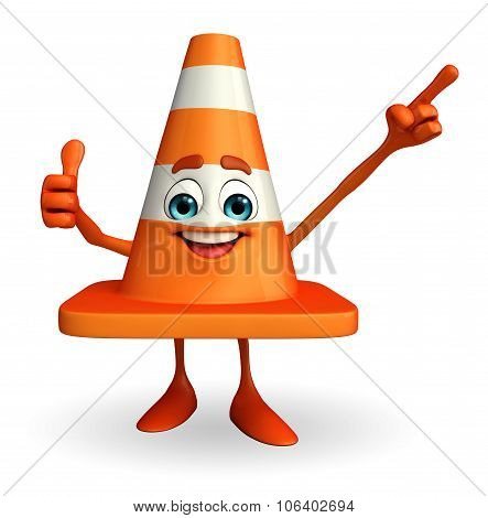 Construction Cone Character With Best Sign