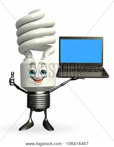 Cfl Character With Laptop