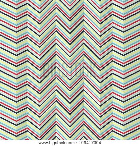 Zigzag Jagged Pattern On Bright Background