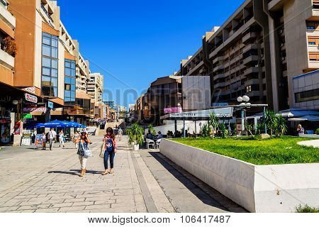 Split, Croatia - October 1: Residents And Buildings In Newer Part Of Split, In Croatia, Split On Oct