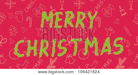 Seamless holiday texture - Merry Christmas