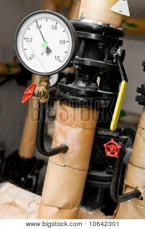 Manometer In Boiler Room