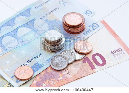 European Coins And Euro Notes