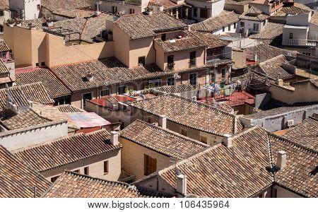 View Of Roof Tops Of Toledo City In Spain