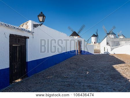 Windmill At Campo De Criptana La Mancha, Spain