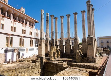 Roman Temple In Old City Of Cordoba, Spain