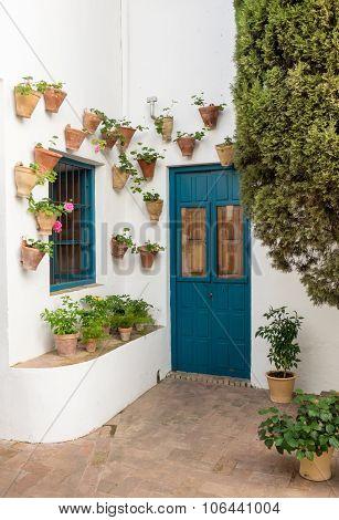 Door In Courtyard In Palacio De Viana Cordoba
