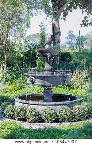 Fountain Multi Tiered In The Garden