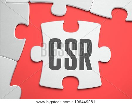 CSR - Puzzle on the Place of Missing Pieces.