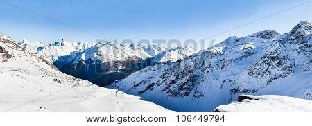 Snowy Alpine Mountains